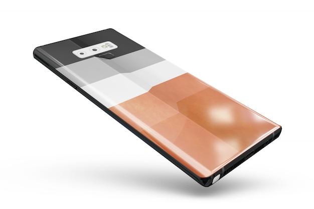 Smartphone skin maquette isolé Psd gratuit