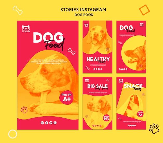 Snack Dog Food Histoires Instagram Psd gratuit