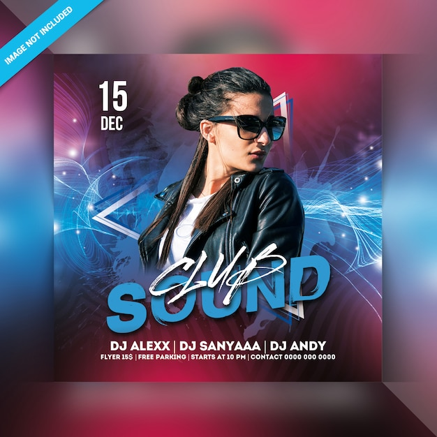 Sound club party flyer PSD Premium