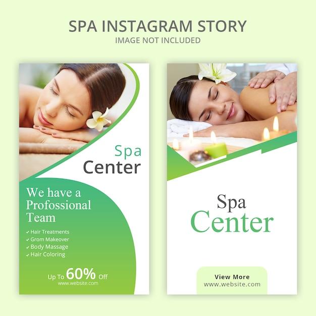 Spa Instagram Histoires Définies PSD Premium