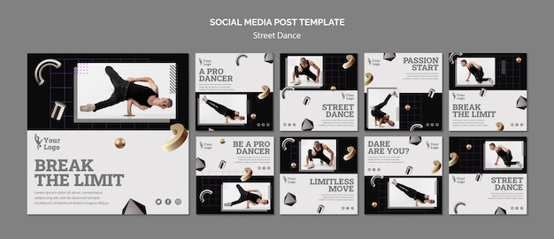 Street Dance Instagram Posts Psd gratuit