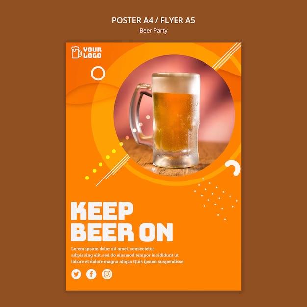 Style D'affiche De Fête De La Bière Psd gratuit