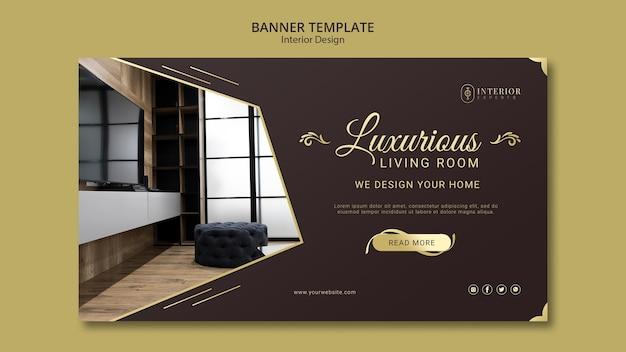 Style De Bannière De Design D'intérieur Psd gratuit