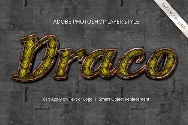 Style de calque d'effet de texte photoshop PSD Premium