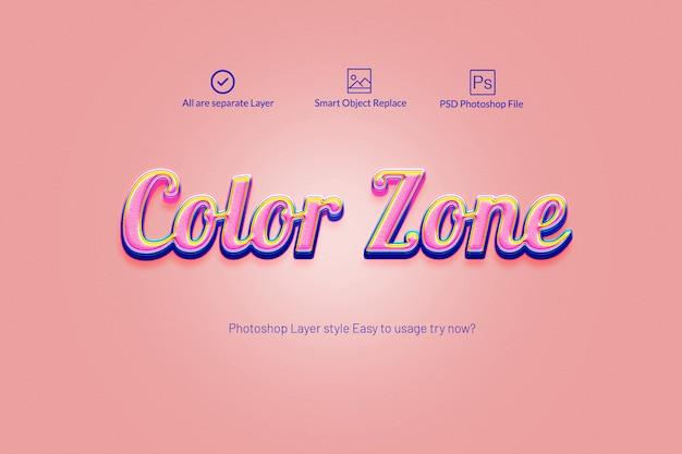 Style de calque photoshop coloré 3d PSD Premium