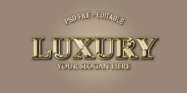 Style d'effet de texte 3d de luxe en or PSD Premium