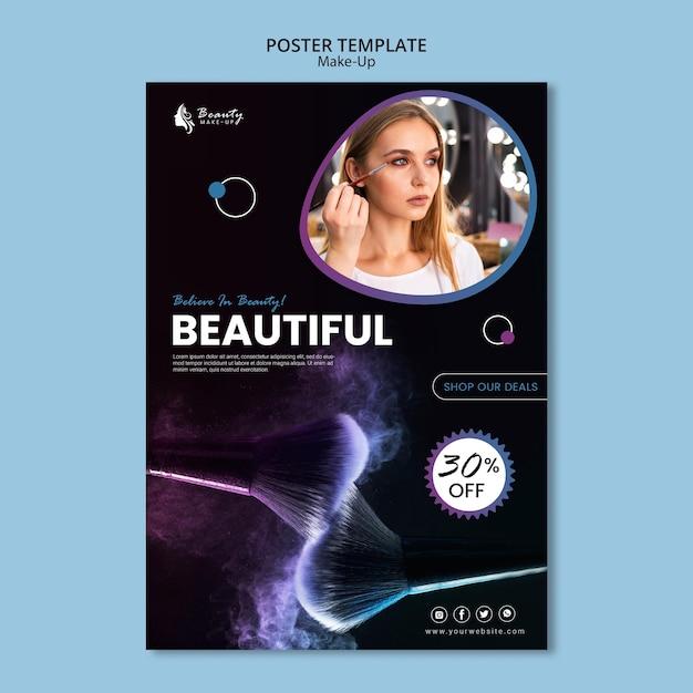 Style De Modèle D'affiche Concept Maquillage Psd gratuit