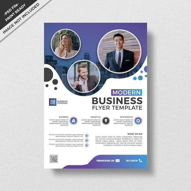 Style moderne de modèle de création d'entreprise flyer PSD Premium