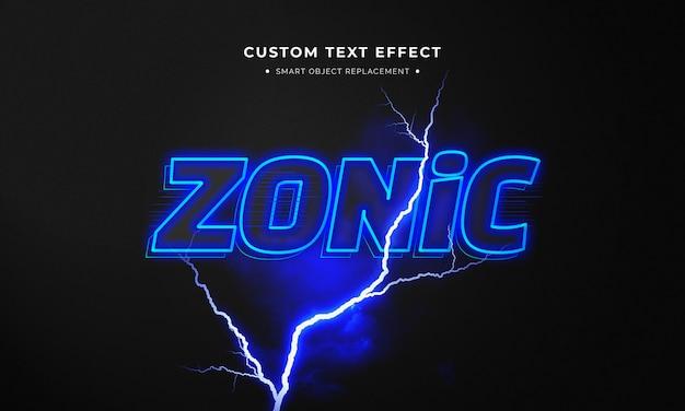 Style De Texte 3d Zonique PSD Premium