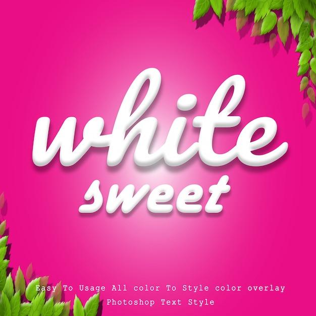 Style de texte doux blanc PSD Premium