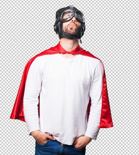 Super Héros Pensant PSD Premium