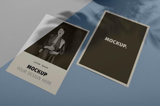 Superposition D'ombre De Brochure De Maquette Psd gratuit