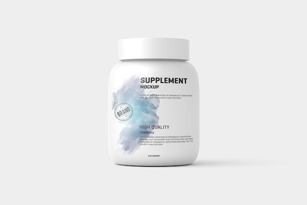 Supplément / étiquette de flacon de protéines mock up PSD Premium