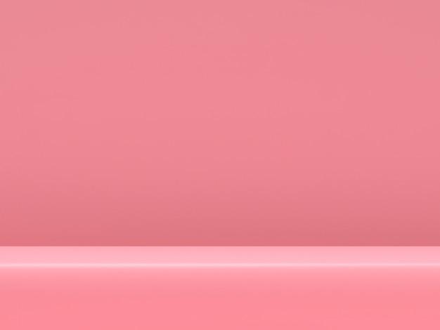 Support De Produit Pastel Rose Sur Fond. Concept De Géométrie Minimale Abstraite Rendu 3d PSD Premium