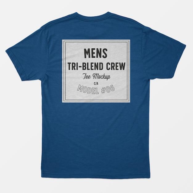 T-shirt d'équipage tri-mélange homme Psd gratuit
