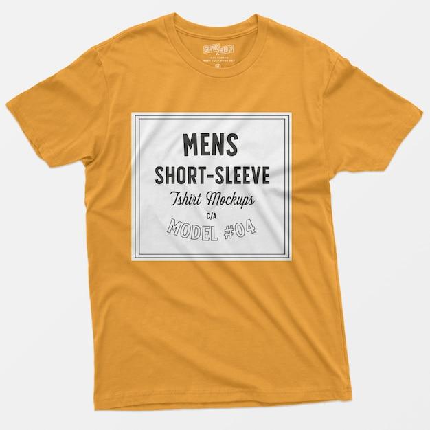 T-shirt à manches courtes pour hommes maquette 04 Psd gratuit