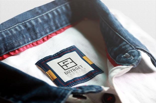 T-shirt Maquette D'étiquette PSD Premium