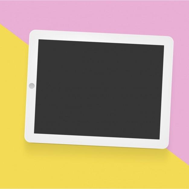 Tablet maquette modèle Psd gratuit