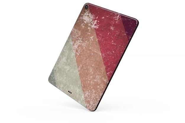 Tablette maquette de peau isolée Psd gratuit