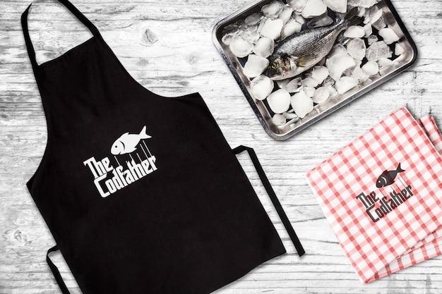 Tablier du restaurant de fruits de mer Psd gratuit