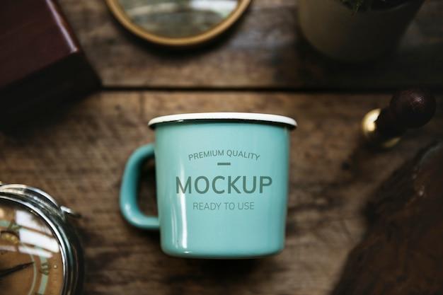 Tasse à café blanche PSD Premium