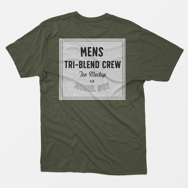 Tee shirt d'équipage tri-mélange homme 07 Psd gratuit