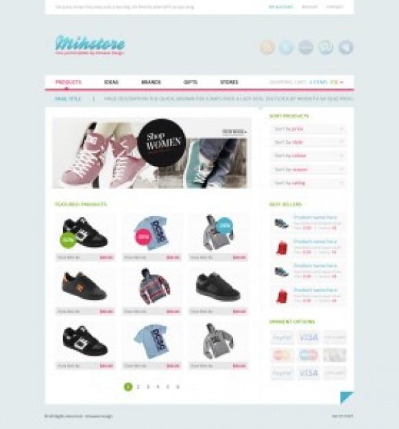 Template de boutique de magasin de vêtements Psd gratuit