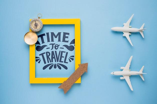 Temps de voyager, lettres de motivation sur les vacances Psd gratuit