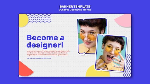 Tendances Géométriques Dans Le Modèle De Bannière De Conception Graphique Psd gratuit