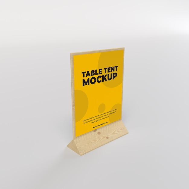 Tente De Table En Bois Vue Carrée Pour Restaurant Et Publicité PSD Premium
