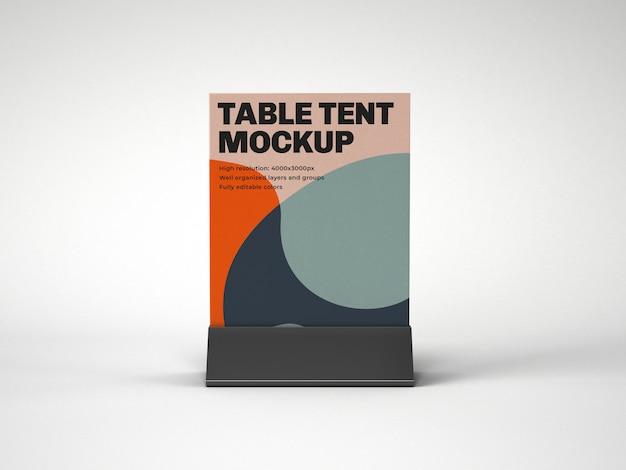 Tente De Table Avec Maquette De Support En Plastique PSD Premium
