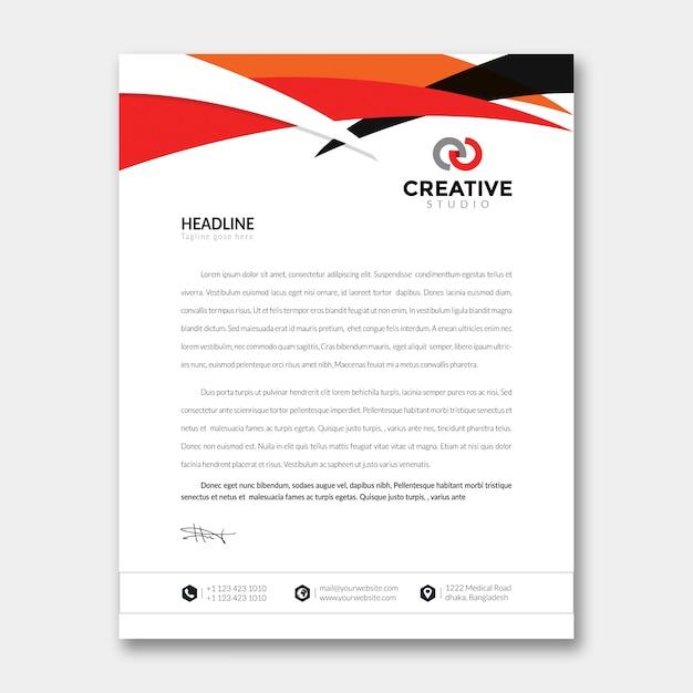 En-tête de lettre PSD Premium