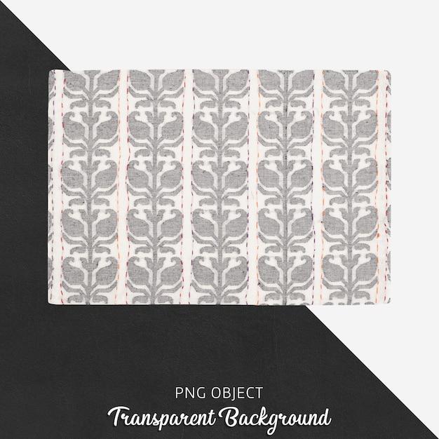 Textile de cuisine à motifs blanc et gris clair sur fond transparent PSD Premium