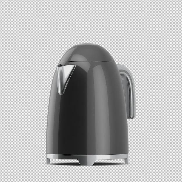 Théière isométrique rendu 3d PSD Premium