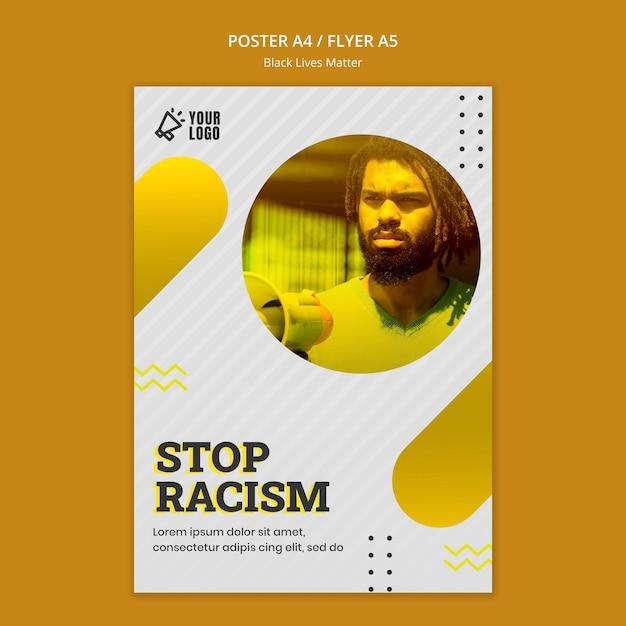 Thème De L'affiche Black Lives Matter Psd gratuit