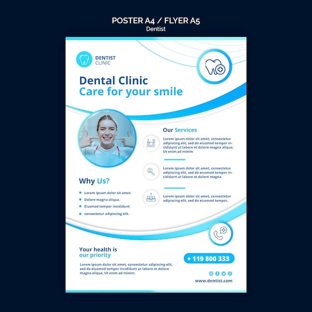 Thème De L'affiche De Dentiste Psd gratuit