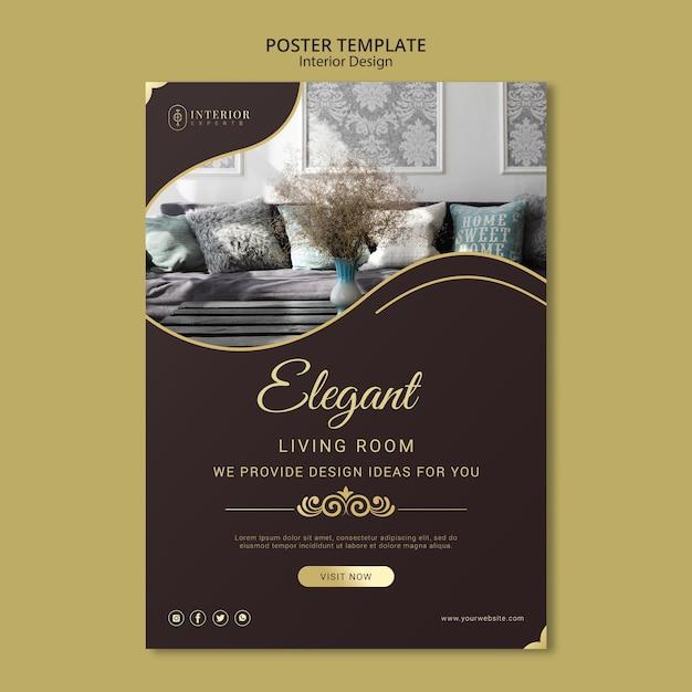 Thème D'affiche De Design D'intérieur Psd gratuit