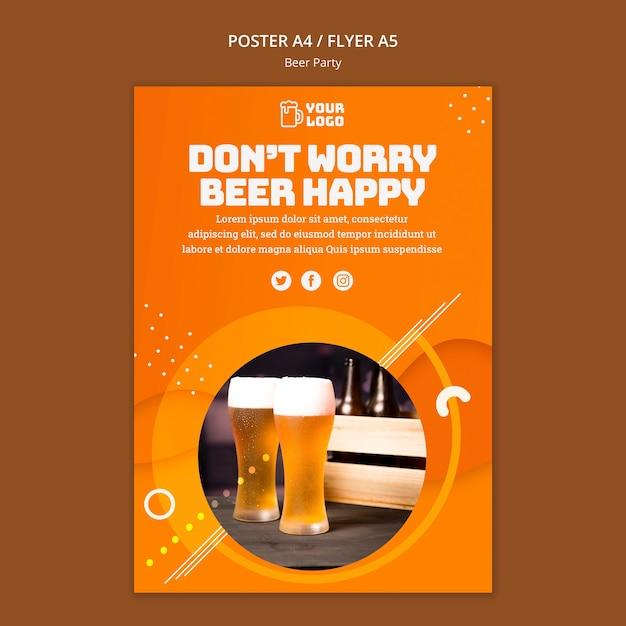 Thème De L'affiche De La Fête De La Bière Psd gratuit