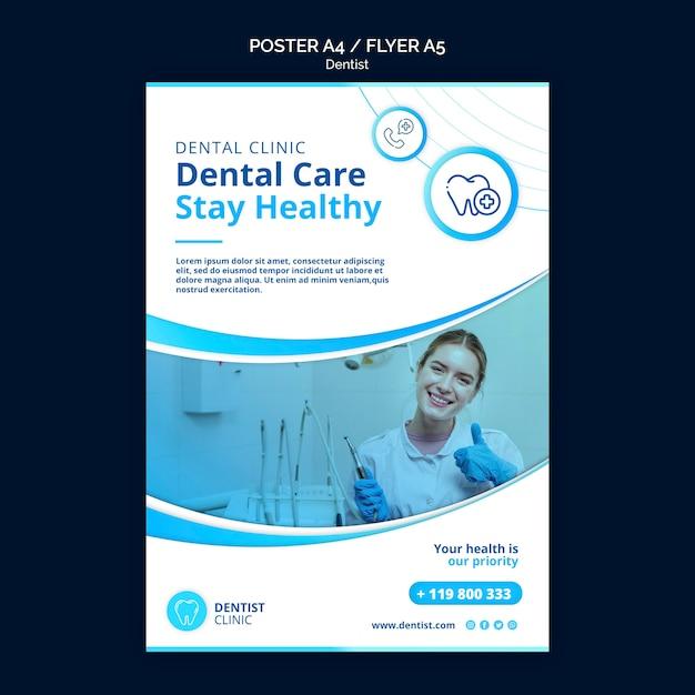 Thème Du Modèle D'affiche Dentiste Psd gratuit