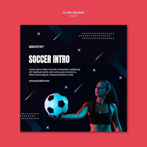 Thème Du Modèle De Flyer De Football Psd gratuit
