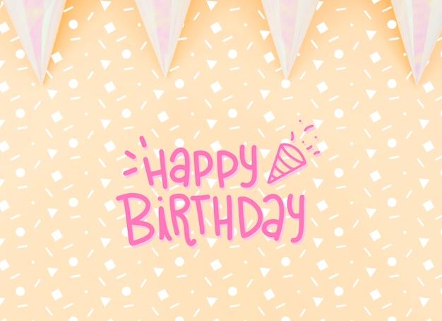 Thème Festif Pour La Fête D'anniversaire Psd gratuit