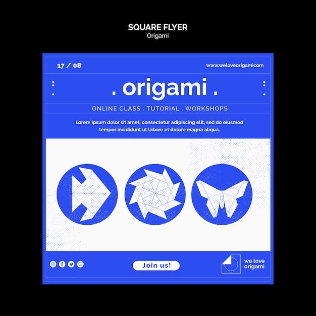 Thème Flyer Origami Psd gratuit