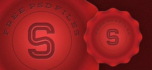 Timbre rouge conception graphique Psd gratuit