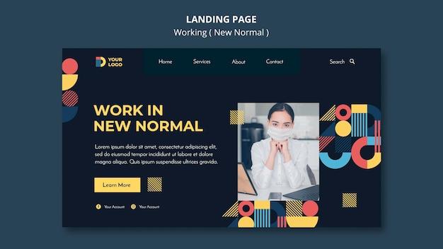 Travailler Dans La Nouvelle Page De Destination Normale Psd gratuit