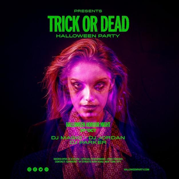 Trick Or Treat Halloween Portrait Girl Psd gratuit