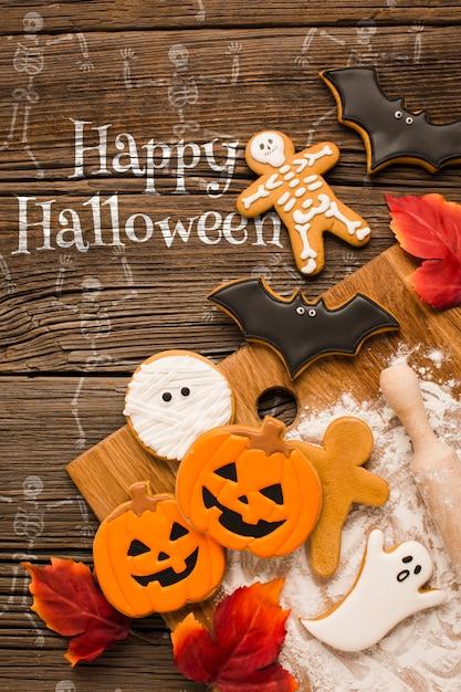 Trick ou traiter des bonbons spécifiques à halloween Psd gratuit