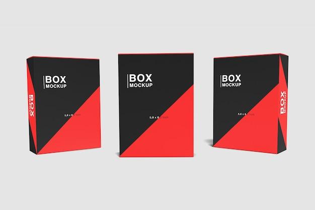 Trois Maquettes De Boîte PSD Premium