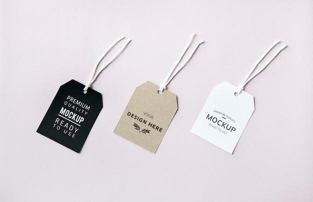 Trois Maquettes D'étiquettes De Mode Psd gratuit