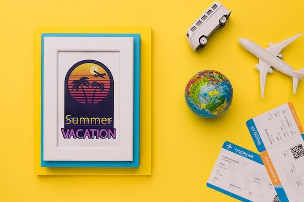Vacances d'été avec des éléments de vacances Psd gratuit