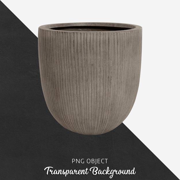 Vase Gris Sur Transparent PSD Premium
